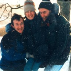 December 19th 1999, Mary, her brother Malcolm & I in the snow. Not panicking about Y2K.