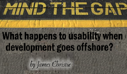 What happens to usability when development goes offshore? (2009)