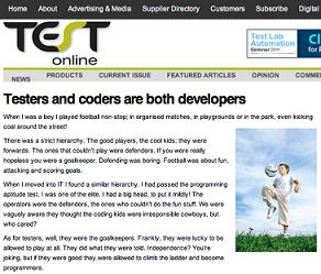 testers and coders are both developers